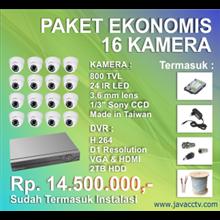 Promo Paket Cctv 16 Channel Ekonomis Berkualitas