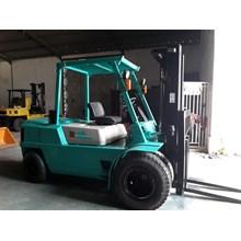 Forklift Bekas Mitsubishi Kapasitas 5 Ton Orisinil Ban Double Stnk Hidup 2016