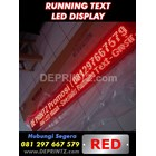 Running Text Warna Merah