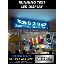 Running Text Warna Putih