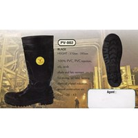 Jual Boots Safety Pv-002 Black
