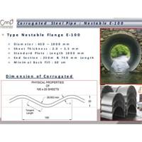 Jual Nestable Flange E-100 ( Corrugated Steel Pipe)