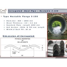 Nestable type Flange E-100 (Corrugated Steel Pipe)
