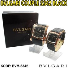 Bvlgari Couple bvlgari couple watches bvlgari couple ring Jam Tangan Bvlgari Couple Bvlgari Couple 5342 Black 085290001654 PIN BBM: 235FFCCD