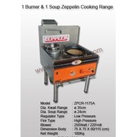 1 Burner & 1 Soup Zeppelin Cooking Range Model 2
