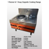 1 Burner & 1 Soup Zeppelin Cooking Range Model 3