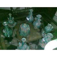guci keramik antik dinasti warna hijau