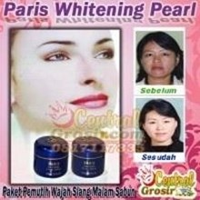 Paris Whitening Pearl (Paket Pemutih Wajah Siang Malam Sabun) 170ribu MURAH HARGA SUPPLIER 085781281999 PIN BBM 7D2905B1