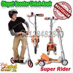 SUPER RIDER (OTOPET SCOOTER UNTUK ANAK) 700Ribu MURAH HARGA SUPPLIER 085781281999 PIN BBM 7D2905B1