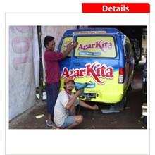 Sticker Branding at Truck Car Operational Car etc
