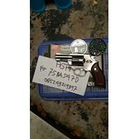 Jual Revolver RCF Tanaka M36 Silver Peluru Senapan Angin