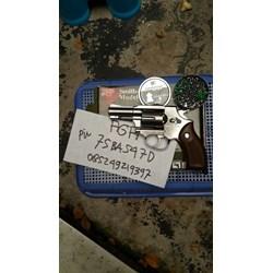 Revolver RCF Tanaka M36 Silver Peluru Senapan Angin