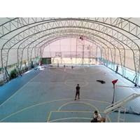 Konstruksi Lapangan Futsal Basket Tenis Indoor 20X30x5m