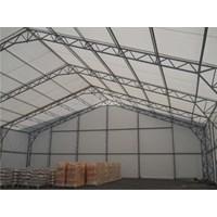 Tenda Roder Gudang Industri Pabrik Tambang 20X100x5m
