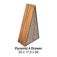 Kotak Laci Toro Pyramid 4 Drawer