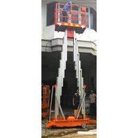 Aerial Work Platform with Battery Double Mast.