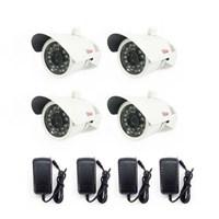 Jual CCTV Kamera Outdoor Paket 4 Pcs Cmos 1000 TVL Cir 688 HD  dan Alat Rekam DVR  Recorder 4 Channel H264