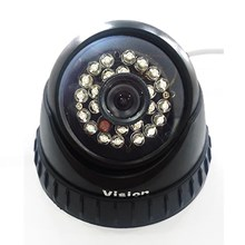 Vision 1000 TVL  Color Cmos Indoor CCTV Dome Infrared Camera - 24Pcs IR LED