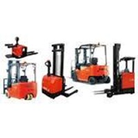 Jual  Sewa Reach Truck Stacker Ban Battery Forklift