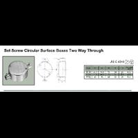 Jual Set Screw Circular Surface Boxes Two Way Through