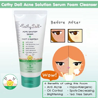 Cathy Doll Acne Solution Serum Foam Cleanser 100Ml