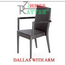 Kursi Teras Dallas With Arm – Kursi Makan Rotan Plastik