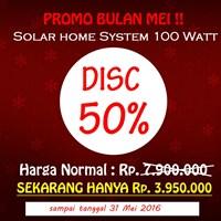 Jual Paket Penerangan Rumah Tenaga Surya Shs 100 Watt (Solar Home System) - Topray