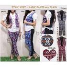 Jual Etnic Vest + Basic Pants Mix Plain