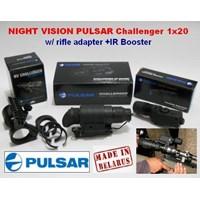 Night Vision Pulsar 'Challenger' 1X20  Adapter Scope + Ir Flashlight.