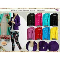 K073 Classic Collar Blazer+Inner