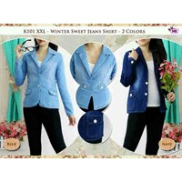 K101 Xxl Winter Sweet Jeans Blazer