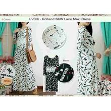 Uv066 Holand Bw Lace Maxi Dress Fit To L Besar Bhn Spandek Hyget Impor + Brukat 2Wrn
