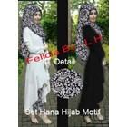 Hana Keong Hijab Set (Pashmina+Celana Motif Keong+Tunik Polos) Bhn Spandex Rayon Super
