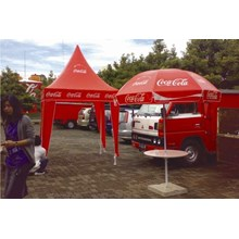 coca cola promo awning