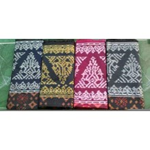 Woven tumpal full Borneo motifs