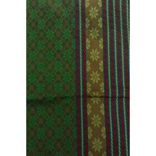 Fabric Motif smooth Baron red yellow green