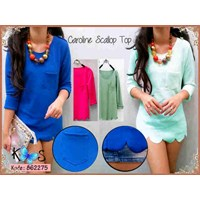 Atasan Caroline Scallop Top