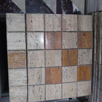 Jual Mozaik Travertine Mix Colour Sdh Dirangkai Dan Dibevel (Promo 36)