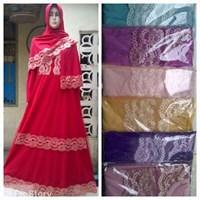 Baju Muslim Gamis Renda