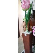 Bunga plastik artificial - Bunga Pink Pot Tinggi (Apr.16.141.Y.6)