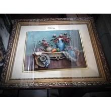 [Seni Lukis dan Kaligrafi] Lukisan Timbul Bunga (Jun.16.142.S)