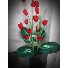 [Bunga Plastik Artificial] Bunga Tulip Merah (Agt.