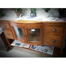 [Meja Ruang Keluarga] Bufet Lengkung (Jati.DM.59)