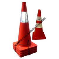 Sell 911 RUBBER TRAFFIC CONE ORANGE LEG 70 cm
