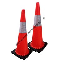 Sell BEST GUARD RUBBER TRAFFIC CONE LEG BLACK 70 cm