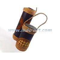 Jual Kerajinan Celengan Bambu Motif Kain Batik Ukuran Kecil
