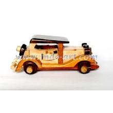 Miniature Of Wooden Ancient Car