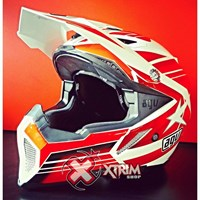 Jual Helm Cross Agv Flag Star White Red