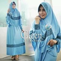 Baju Muslim Gleen Biru.