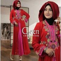 Baju Muslim Gleen Merah